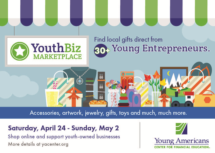 YouthBiz Marketplace sells accessories, jewelry, gifts, toys and more made by youth-owned businesses.